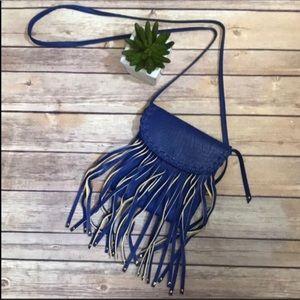 Steve Madden Blue Handbag with Fringe